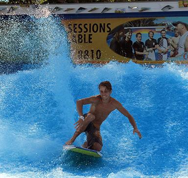Akua Beach Surfer