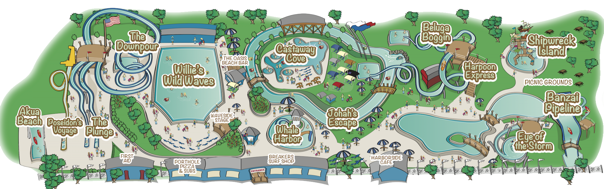 Map of Whale's Tale Waterpark