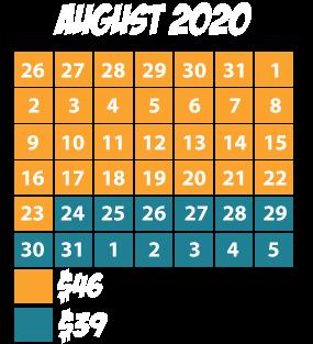August Calendar
